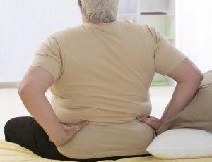 Peso causa dor nas costas